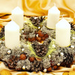 Christmas handmade garland — Stock Photo #1498576