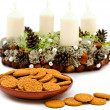 Christmas garland with cookies — Stock Photo