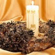 Garland with candle — Stock Photo #1498706