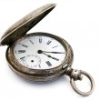 Silver pocket watch — Stock Photo #1498796