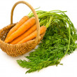 Carrots in a basket — Stock Photo