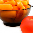 Carrot and tomato — Stock Photo
