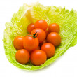 Tomatoes in cabbage - Stock Photo
