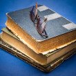 Pile of oldbook — Stockfoto