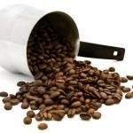 Turkish percolator with coffee beans — Stock Photo