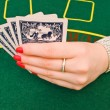 Woman playing in casino — Stock Photo #1499886