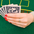 Woman playing in casino — Stock Photo