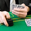 Bet at the casino - Stock Photo