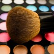 Royalty-Free Stock Photo: Eye shadows with brush