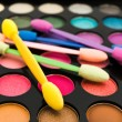 Multicolored eye shadows — Stock Photo #1499995