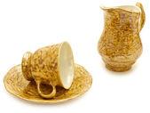 Coffee cup and cream jug — Stock Photo