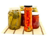 Glass jars — Stock Photo