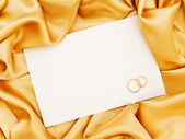 Wedding golden textile border — Foto Stock