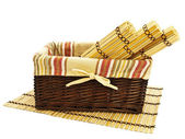 Basket and mats — Stock Photo
