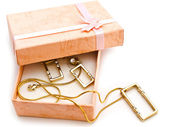 Gift box with jewellery — Stock Photo