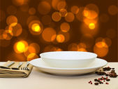 Festive table serving — Stock Photo