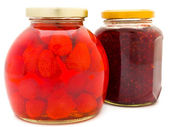 Jam and compote — Stock Photo