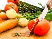 Cutting tomato — Stock Photo