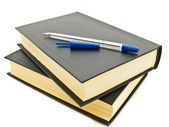 Books and pen — Stock Photo
