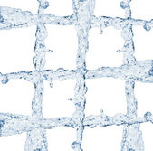 Grelha de fluxo de água — Foto Stock