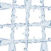 Ruszt strumień wody — Zdjęcie stockowe