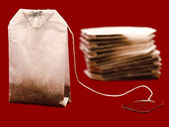 Three tea bags — Stock Photo