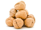 Walnuts pyramid — Stock Photo