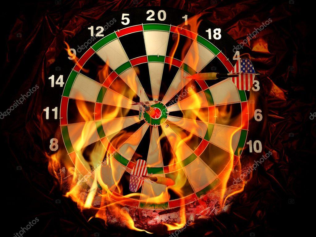 Darts in flame — Stock Photo © S_Razvodovskij #1499166
