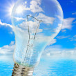Bulb and heaven — Stock Photo