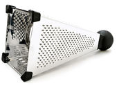 Single shiny grater against white background — Stock fotografie