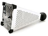 Jediné lesklý struhadlo proti bílému pozadí — Stock fotografie