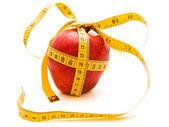 Diet apple gift — Stock Photo