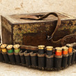 Ammunition belt - Stock Photo