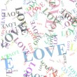 Stock Photo: Love words