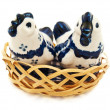 Porcelain chicken — Stock Photo