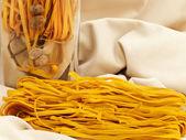 Decorated chili pasta — Stock Photo