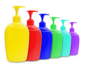 Liquid soap bottles — Stock Photo