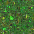Circuit green background - Stock Photo