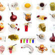 Drink and food set — Stock Photo