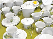 Yeşil çay servisi — Stok fotoğraf