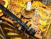 Muziek interieur in oude stijl — Stockfoto