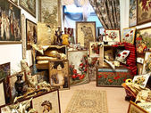Tapestry room in store — Stock Photo