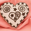 Heart spice cake — Stock Photo #2674976