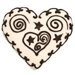 Heart spice cake — Stock Photo #2675014