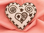 Heart spice cake — Stock Photo