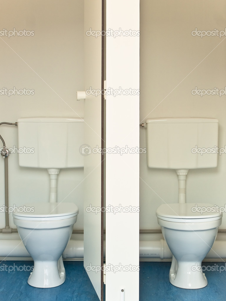 Two toilet cabines without person — Stock Photo #2675922