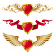 Royalty-Free Stock Vektorfiler: Valentines hearts with decor