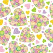 Valentines seamless background - Stok Vektr