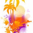 Abstract summer illustration — Stock Vector