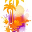 Abstract summer illustration — Imagen vectorial